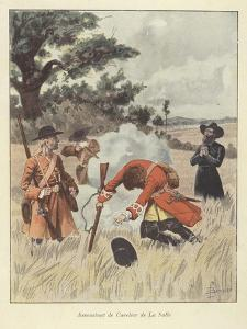 The Killing of Rene-Robert Cavelier De La Salle, 1687 by Louis Charles Bombled