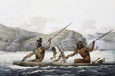 Indians on Boat in Port of San Francisco, California