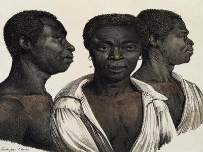 Inhabitants of Mozambique, Lithograph from Picturesque Voyages around World
