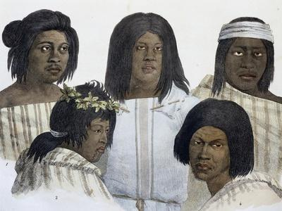Natives of California, Engraving from Picturesque Voyages around World