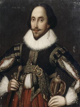 William Shakespeare (1564-1616) - représenté âgé de 34 ans