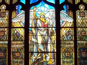 Angel of the Resurrection Stained Glass Window by Louis Comfort Tiffany
