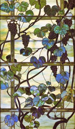 Grapevine Panel, circa 1902 –15 by Louis Comfort Tiffany