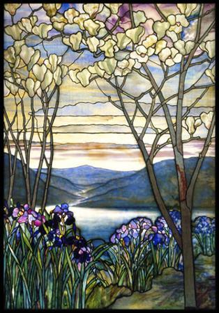 Magnolias and Irises, ca. 1908 by Louis Comfort Tiffany