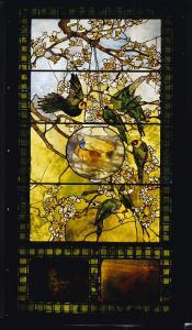 Parakeets and Gold Fish Bowl, C.1893 by Louis Comfort Tiffany