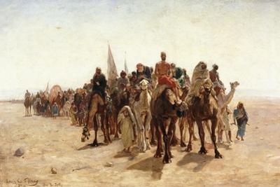Pilgrims Going to Mecca; Pelerins Allant a La Mecque, 1890 by Louis Comfort Tiffany