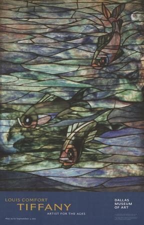Window Panel with Swimming Fish