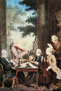 Concert with Oboe, Violin, Horn and Cello by Louis de Carmontelle