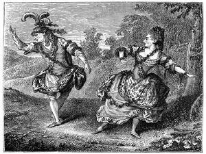 Dauberval with Mlle Allard in Sylvie, 1766 by Louis de Carmontelle