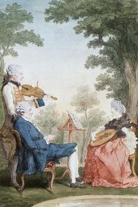 Monsieur and Mademoiselle De Croismare by Louis de Carmontelle