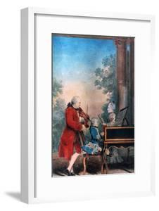 The Mozart Family in Paris in 1763 by Louis de Carmontelle