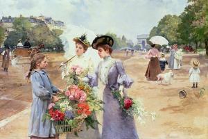 Spring Morning, Avenue Du Bois de Boulogne, 1902 by Louis de Schryver