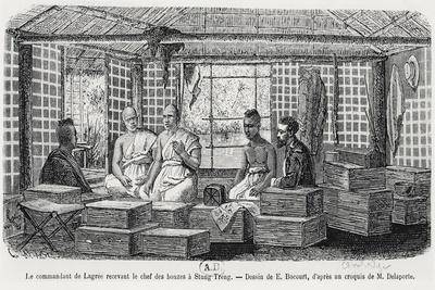 Commander Lagree Receiving the Chief of the Monks at Stung Treng, Cambodia, 1868