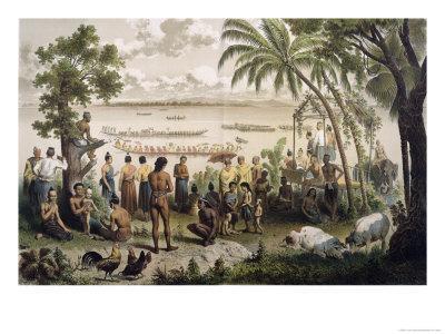 """Pirogue Races on the Bassac River, from """"Atlas Du Voyage D'Exploration De L'Indochine"""""""