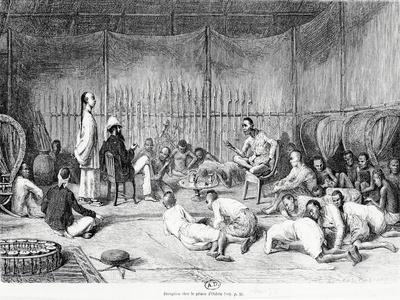 Reception by the Prince of Oubon, Laos, 1877