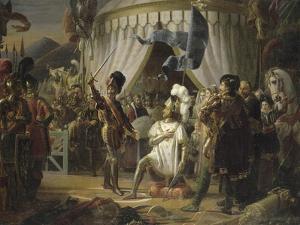 François Ier armé chevalier par Bayard by Louis Ducis