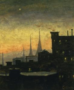 New York Roof Tops by Louis Eilshemius
