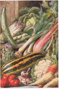 Garden Vegetables, Illustration from 'Garden Ways and Garden Days' by Louis Fairfax Muckley