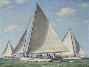American Skipjack Jessie Price on the Chesapeake by Louis Feuchter