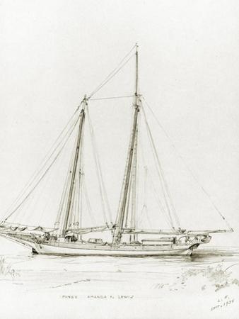 Pungy Amanda F. Lewis, 1934 by Louis Feuchter