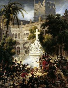 Assault of San Engracia Monastery at Zaragoza, February 8Th, 1809 by Louis Francois Lejeune