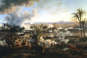 The Battle of the Pyramids, 21 July 1798 by Louis Francois Lejeune