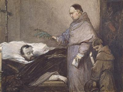 Martin Rithone Blessing the Body of the Count of Egmont