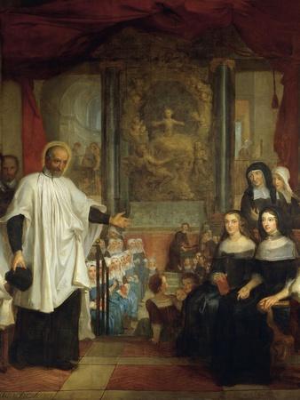 France, Paris, St Marguerite Church, St Vincent De Paul in Front of Ladies of Charity