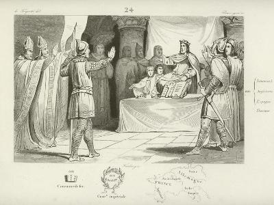Louis I, King of the Franks and Holy Roman Emperor--Giclee Print