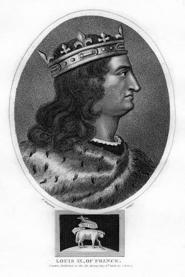 Louis IX, King of France-J Chapman-Giclee Print