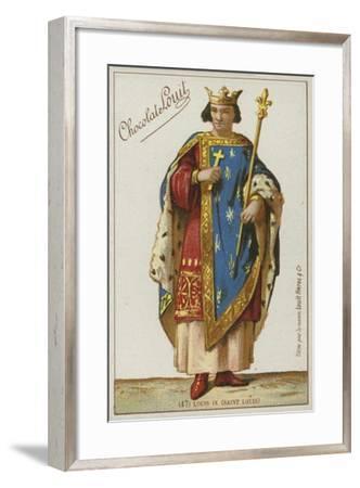 Louis IX, Saint Louis--Framed Giclee Print