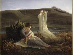 Le Poème de l'âme. L'Ange et la mère by Louis Janmot