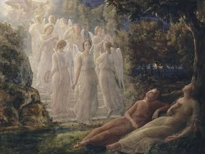 Le Poème de l'âme. L'Echelle d'or by Louis Janmot