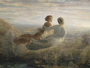 Le Poème de l'âme. Le vol de l'Âme by Louis Janmot