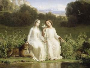 Le Poème de l'âme. Virginitas by Louis Janmot