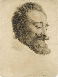 Portrait de Henri IV, d'après le baron Gérard by Louis Janmot