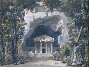 Scenery Sketch for the Opera 'Frigga', 1787 by Louis Jean Desprez