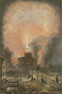 The Girandola at the Castel Sant'Angelo, c.1781 by Louis Jean Desprez