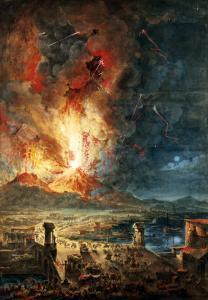 The Great Eruption of Mt. Vesuvius by Louis Jean Desprez
