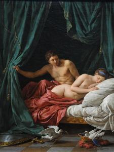 Mars and Venus (Allegory of Peac), 1770 by Louis-Jean-Fran?ois Lagren?e