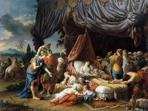 Alexander the Great and Hephaestion at the Deathbed of the Wife of Darius III by Louis-Jean-François Lagrenée