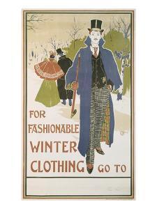 Von Louis John Rhead (1857-1913) for Fashionable Winter Clothing by Louis John Rhead