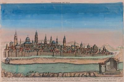 The Jerusalem Map (Ville Capitale De La Palestine Sous David Et Salomon..), 1770 by Louis Joseph Mondhare