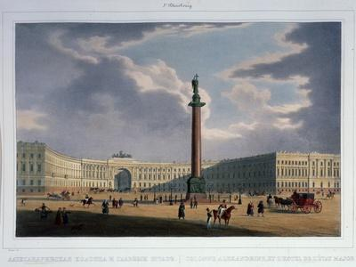 The Alexander Column. View from the Main Army Headquarters, 1840S