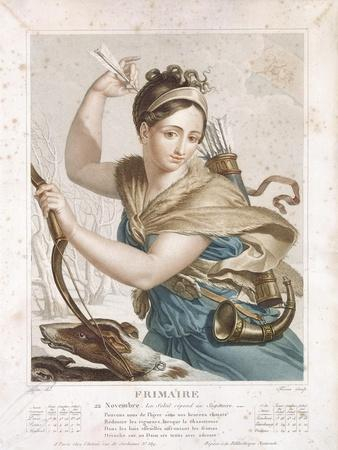 Frimaire (November/December), Third Month of the Republican Calendar, Engraved by Tresca, C.1794