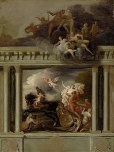 The Rape of Proserpine, Design for the Staircase of Devonshire House, London, C.1704 by Louis Laguerre