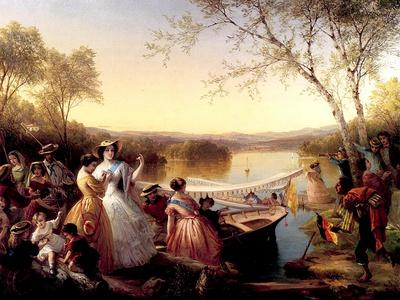 Before a Ladies' Boat Race, Lake Mahopac, 1864-65