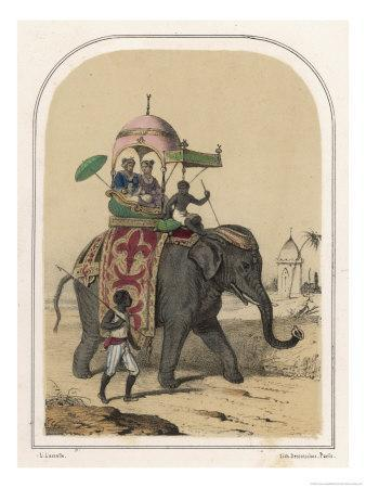 Riding an Indian Elephant in a Howdah