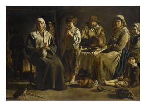 Famille de paysans dans un intérieur by Louis Le Nain