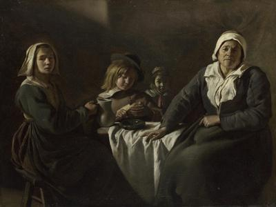Four Figures at a Table, C. 1643